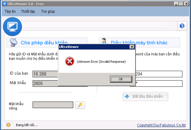 UltraViewer 5.0.14 - Sửa lỗi Unknown Error (Invalid ...
